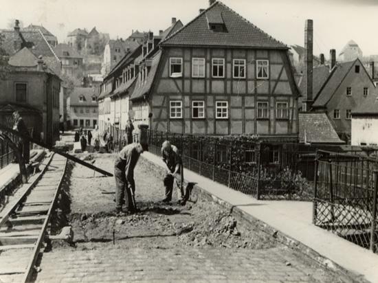 Brückenbau in den 1950-er Jahren