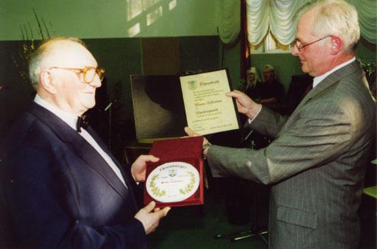 Verleihung der Ehrenbürgerwürde  im März 2002