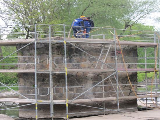 Sanierung Brückenpfeiler