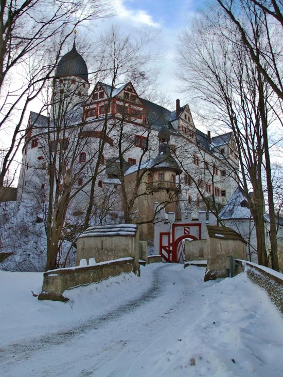 Winter auf Schloss Rochsburg