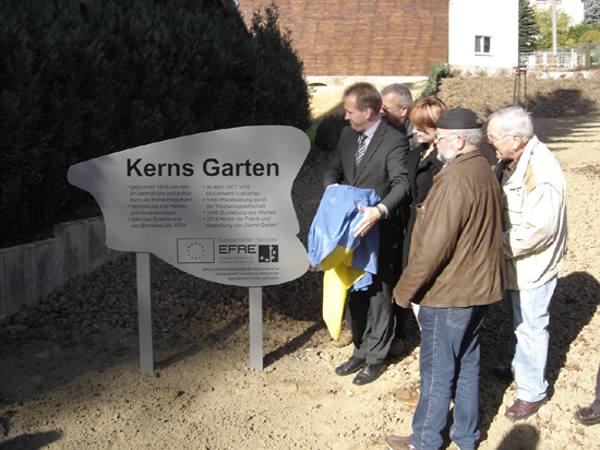 """Einweihung """"Kerns Garten"""" 29. Oktober 2010"""