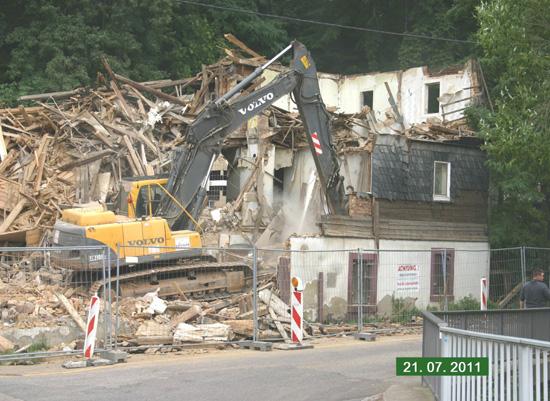 Abrissarbeiten Juli 2011