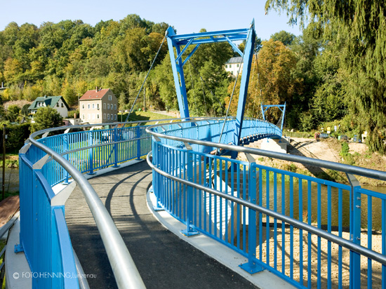 """Das """"Blaue Wunder"""" von Rochsburg"""
