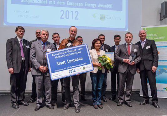 European Energy Award - Auszeichnung am 15. Oktober 2012 in Dresden